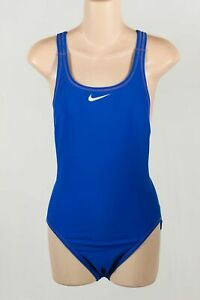 Nike-Blue-Stretch-Nylon-Women-039-s-Crossback-Back-One-Piece-Tank-Swimsuit-Size-36