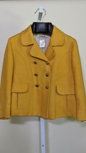 Chloe Vintage 90s Heavy Linen Yellow Gold Button B