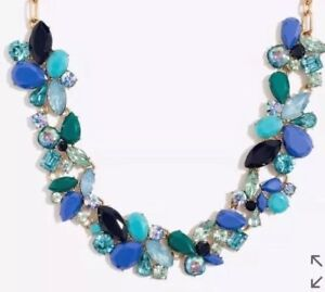 J-Crew-FACTORY-MIXED-STONES-NECKLACE-Authentic-New-59-50-Blue-Green