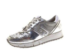 Liu Jo Damen Schuhe Sneaker Laufschuhe Freizeitschuhe Gr 37 Silber Leder