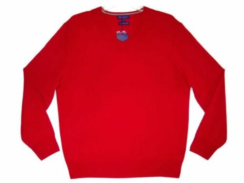 NWT Mens Alan Flusser 100/% Pure Cashmere Red Sweater XL