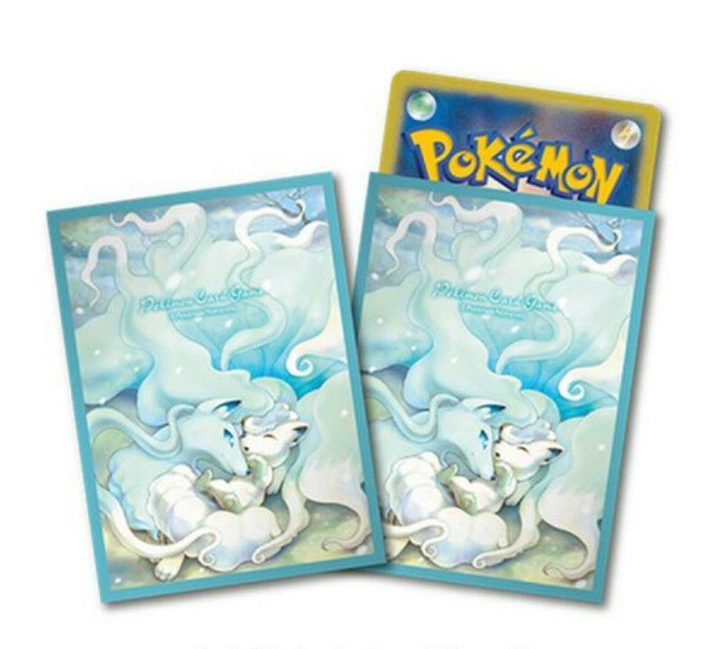 Pokemon Center Limited Limited Limited Card sleeve Alola Ninetales and Vulpix 64 sleeves Japan 805edf