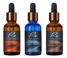 Vitamin C Serum+Hyaluronic Acid+Retinol Serum_AM/PM_AGELESS Treatment - 3x30mL