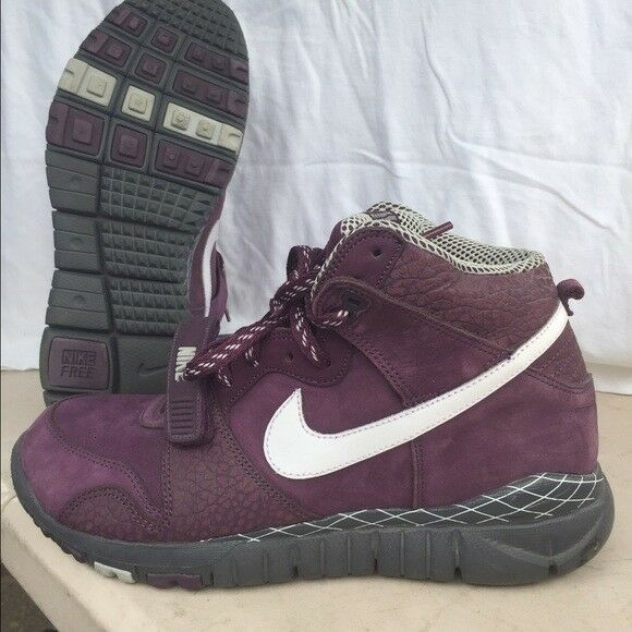 NIKE TRAINER SHOES DUNK HIGH MEN'S 10 SHOES TRAINER Free Purple Mid Strap High Top Sneakers 674703