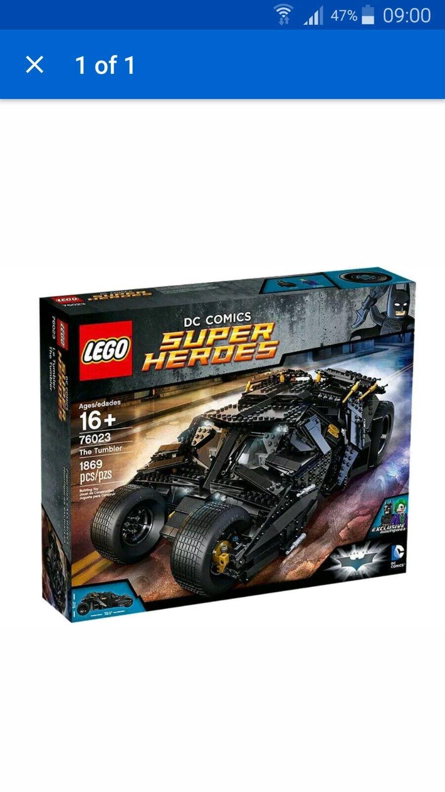 LEGO 76023 DC Comics Super Heroes The Tumbler (MINT) 100% complete