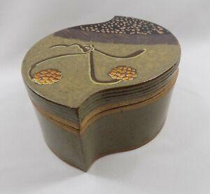 Art Pottery Studio Stoneware Lidded Box by David Petrakovitz