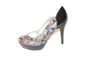 New-Authentic-Guess-Display-Pumps-By-Marciano-Sandrea6-Black-Gray-Multi-Snake-7