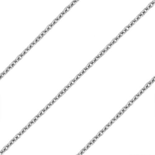 1.3 mm 925 Sterling Argent rhodium plaqué mince Câble Lien italien chaîne Collier