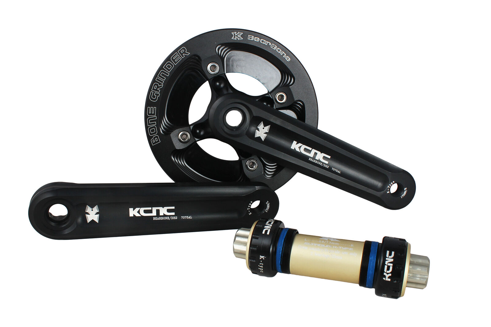 KCNC DH1 Mountain Cycling Bike Crankset for Down Hill w Bash Guard 39t 175mm
