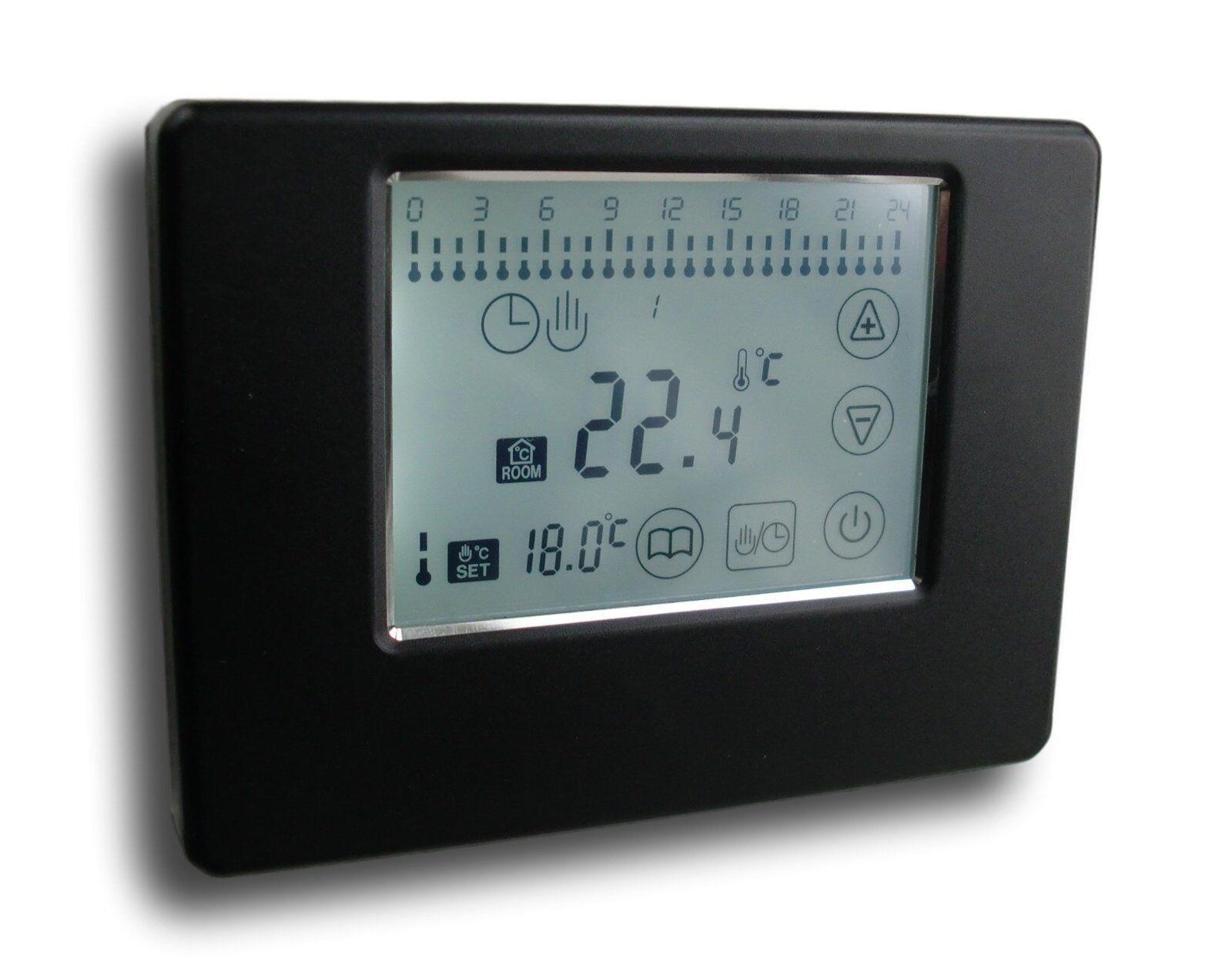 Wireless Set Funkthermostat Funkthermostat Funkthermostat für Fussbodenheizung schwarz + weiß  789+788 ca19c0