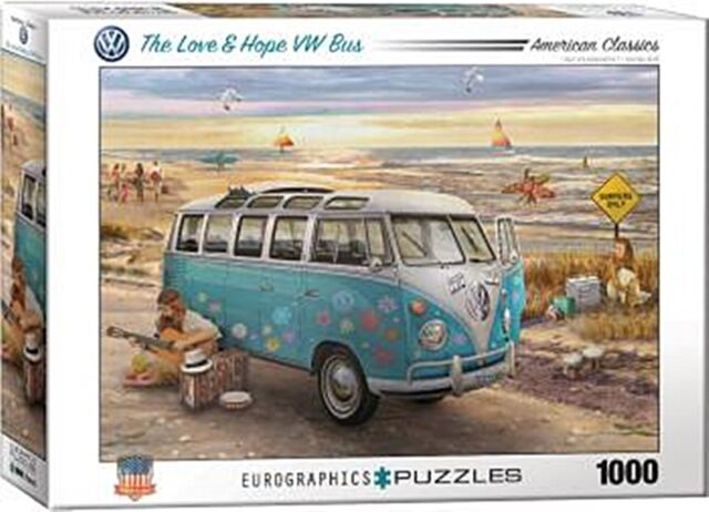 The Love & Hope VW Bus 1000 Pièce Puzzle 680mm x 490mm ( Pz )