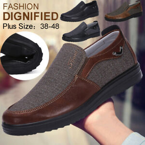 New-Men-039-s-Leather-Casual-Shoes-Soft-Sole-Breathable-Antiskid-Loafers-Moccasins
