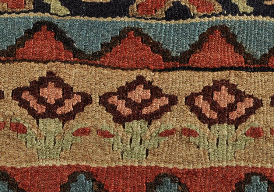 Sehr feiner feiner feiner kurdischer Kelim Nomaden Teppich 220 x 135 kurdish kilim tribal rug e976d5