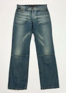 Shaft-jeans-uomo-usato-gamba-dritta-W34-tg-48-denim-blu-relaxed-boyfriend-T5768