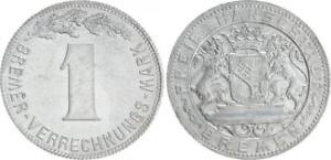 Bremen Oficial Notgeld 1 Verrechnungsmark (1924) EBC+