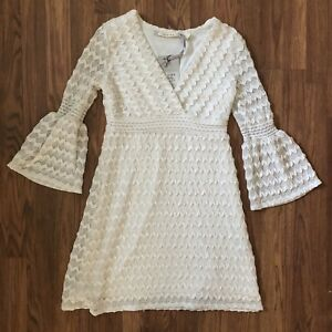 26e90fb513b Image is loading Chelsea-Theodore-Womens-Size-XS-Ivory-Dress-Trumpet-
