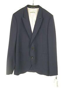 Drykorn-Homme-Sakko-Veste-Forio-Taille-50-Bleu-Laine-Vierge-Np-250-Neuf