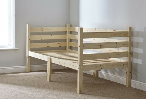 Solid Pine Wooden Daybed HEAVY DUTY RIPVAN Day Bed 3ft Single EB45