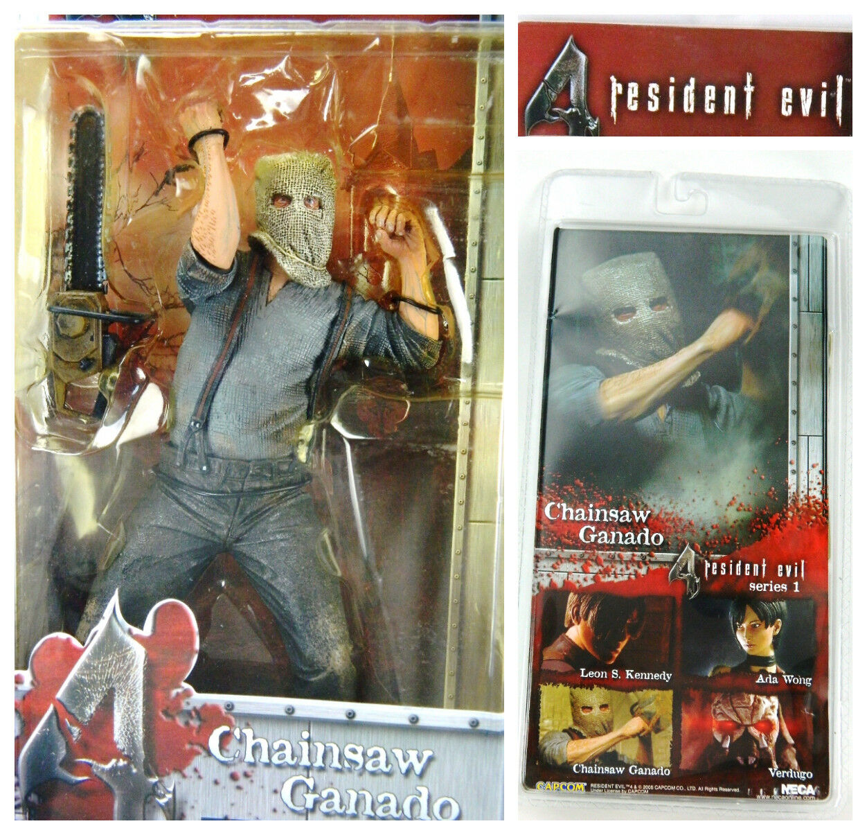 RESIDENT EVIL 4 Neca Chainsaw Ganado Figure Rare Series 1 New Sealed Capcom