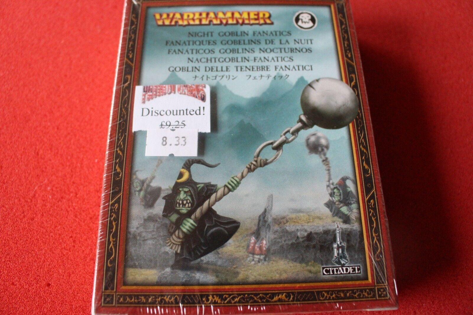 Games Workshop Warhammer Orcs and Goblins Gred Fanatics Night Goblin OOP BNIB GW