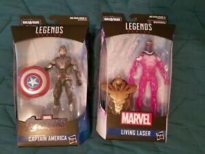 Hasbro Marvel Legends Captain America & Living Laser (Armored Thanos Wave) NEW
