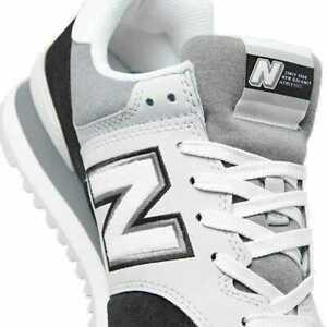 New Balance 574 Mens ML574NLC Gray Black White Sneakers Low SZ 18 ...