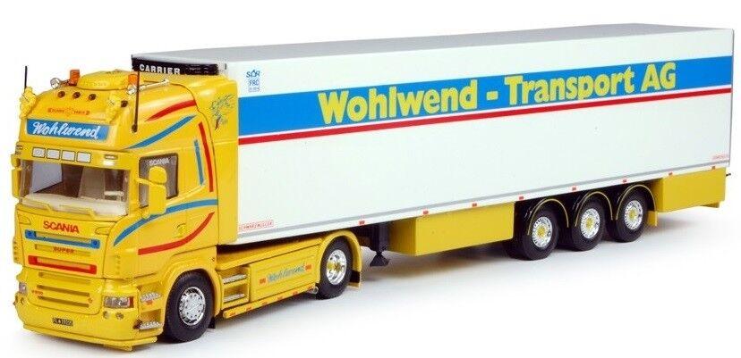 TEK63739 - Camion 4x2 SCANIA R Topline et remorque frigo 3 essieux Carrier aux c