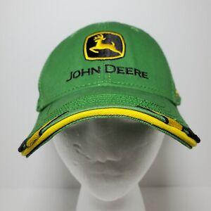 John Deere Adjustable Hook Loop Strap Hat Green Logo JD Equipment