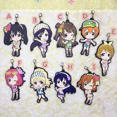 Lovelive WCG Awaken Nico Eli Rin Rubber Strap Charm Keychain ZO Anime Love Live