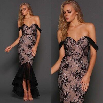 Elle Zeitoune Strapless Corset Lace Ball Gown Formal Evening Long Prom Dress UK | eBay