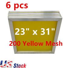 Usa Wholesales 6 Pcs 23 X 31 Aluminum Silk Screen Frame With 200 Yellow Mesh