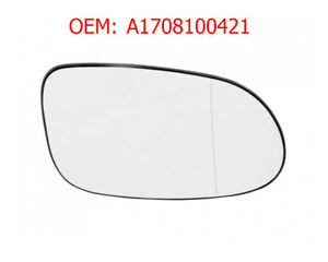Right Side Wing Mirror Glass Wide Angle Heated Compatible With A Class W168 1998-2004 OEM A1708100421