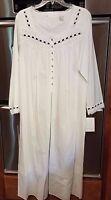 Eileen West Cotton Lawn White Gown Long Sleeve-medium