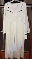 Eileen West Cotton Lawn White Gown Long Sleeve-medium