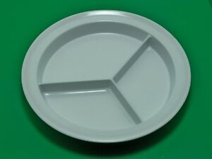 lot-of-50-WHITE-GET-3-compartment-cafeteria-restaurant-plates-lunch-CP-530-W