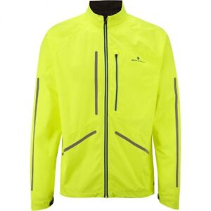 Ronhill Men's Vizion Photon Jacket Fluo Yellow/Cobalt - Size Choice - BNIP