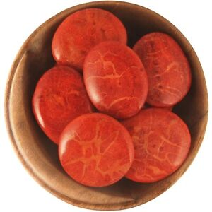Ethically Sourced 1 inch AGATIZED CORAL natural healing crystal stone