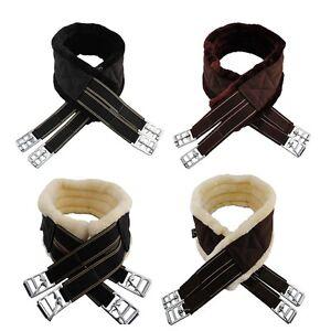 SALE-Quality-Sheepskin-Synthetic-Fur-Nylon-Girth-Horse-Pony-Free-P-amp-P