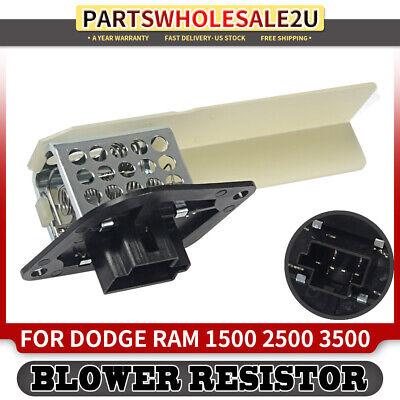 HVAC Heater Blower Motor Resistor for Dodge B1500 B2500 B3500 Ram 1500 2500 3500