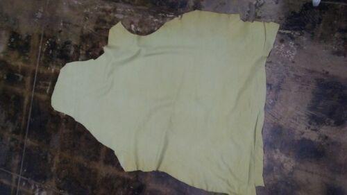 5 Sq.Ft .1.5 oz. Italian Nubuck Thin Top Quality leather skin hide Lime
