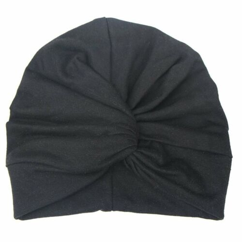 Newborn Toddler Kids Baby Girls Indian Turban Knot Cotton Beanie Hat Winter Cap