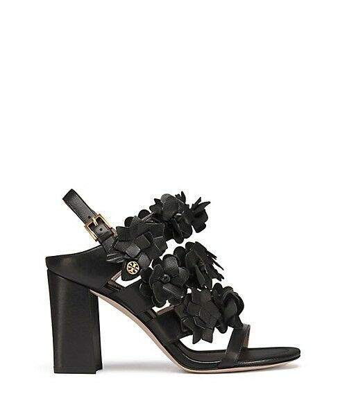 39ae560fc Tory Burch Blossom 65mm Black Size 7.5 Nappa Leather Sandals for sale  online