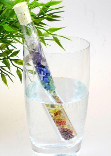 Edelsteinstab 7 Chakra mit 7 verschiedenen Edelsteine Edelsteinwasser