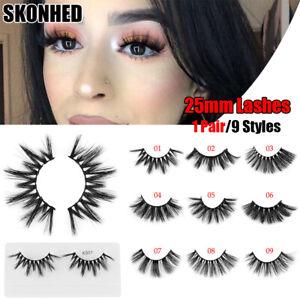 2025dd02160 Wispy Cross Eye Lash Extension 25mm Lashes 3D Soft Mink Hair False ...