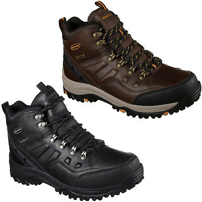 skechers relaxed fit memory foam mens boots