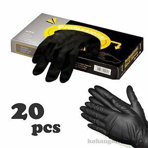1 BOX Professional Black Protective Gloves 20 pcs For Hair Color ...