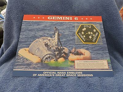 Gemini 3 Official NASA Emblems of America/'s Great Space Missions DISCONTINUED Mint Patch w Statistics and Fact Card in Protective Sleeve