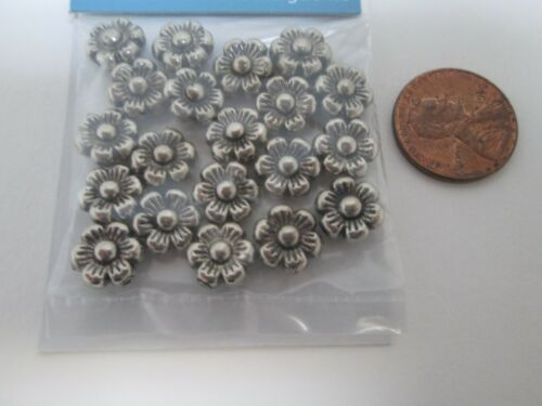 3 Packages Daisy Spacer Beads Antique Silver Metal by Mainstays Crafts