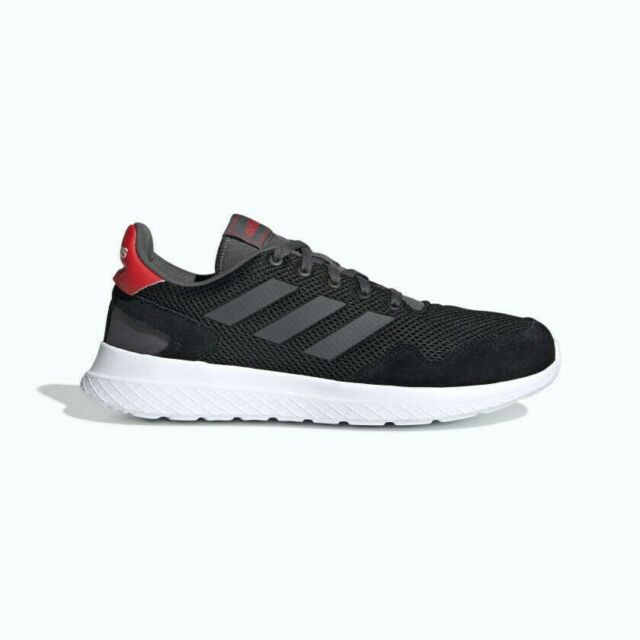 ADIDAS MEN Archivo Black White Red SNEAKERS Trainers Running Shoes EF0436 Sz 9.5