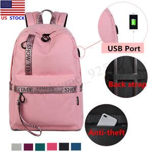 US-Men-Women-Anti-Theft-Backpack-School-Shoulder-Bag-USB-Charger-Laptop